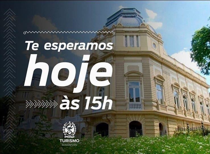 convite para a Visita guiada ao Palácio Guanabara