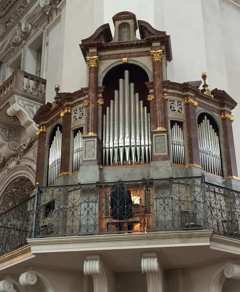 Roteiro de 3 dias em Salzburgo: órgão de tubo da catedeal.