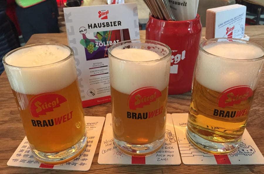 Degustação na Cervejaria Stiegl em Salburgo