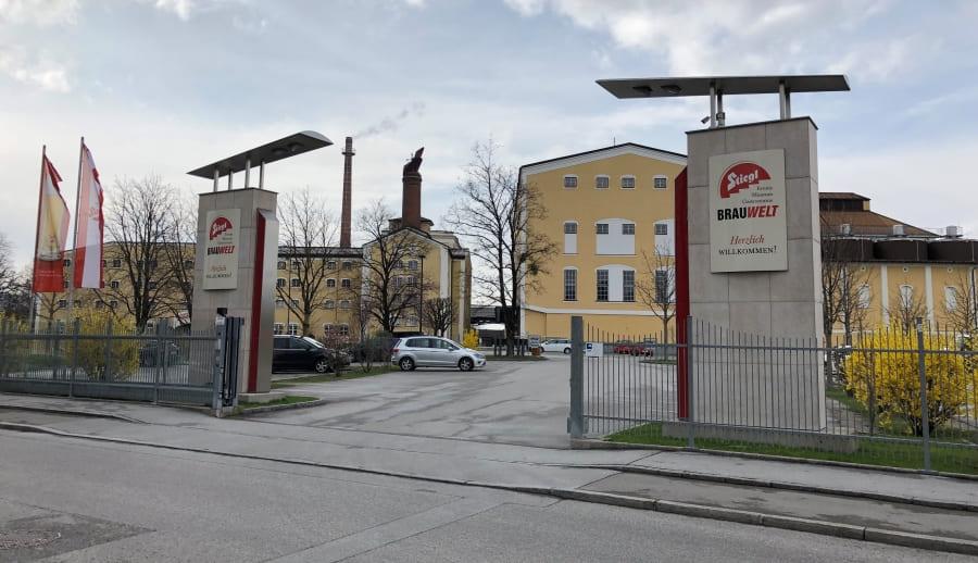 Complexo cervejeiro da Stiegl em Salzburgo