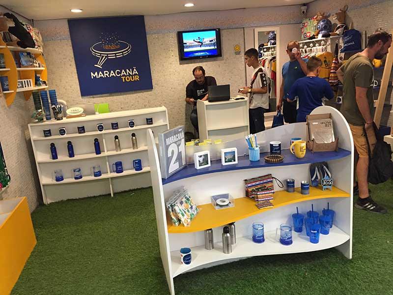 Tour no Maracanã: quiosque de venda de produtos