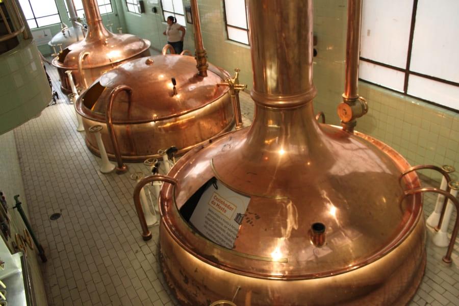 Tanques antigos da Cervejaria Bohemia