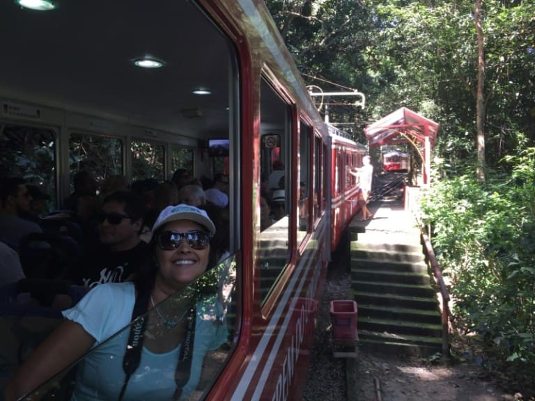 Ride by train to Christ the Redeemer
