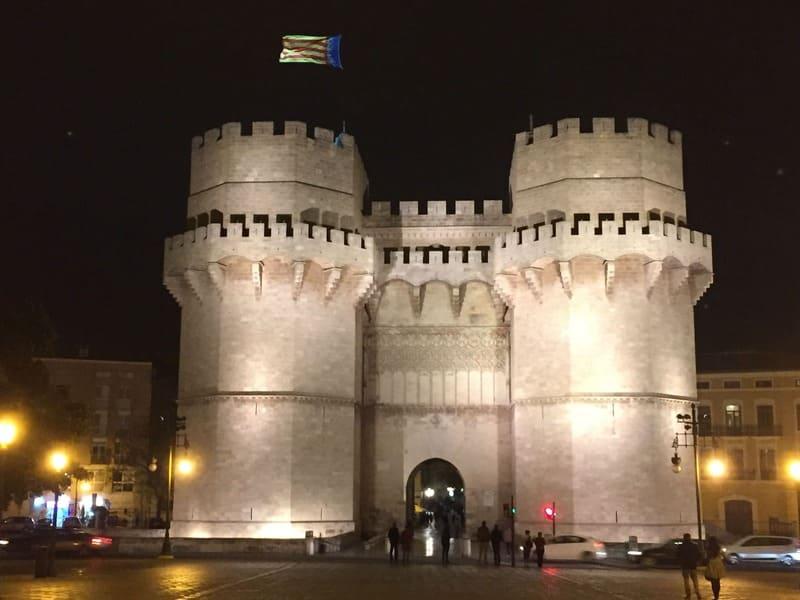 Torre de Serranos de Valência.