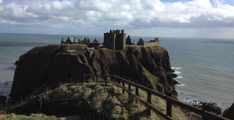 O que visitar em Aberdeen: Castelo Dunnottar.