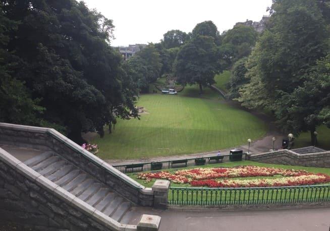 O que visitar em Aberdeen: Jardins do Union Terrace