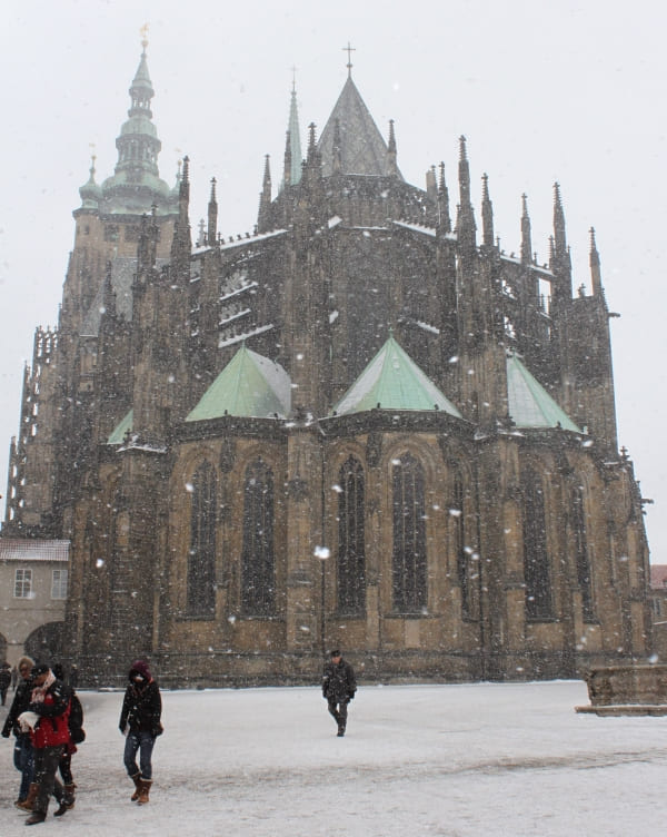 Castelo de Praga numa tarde de inverno.