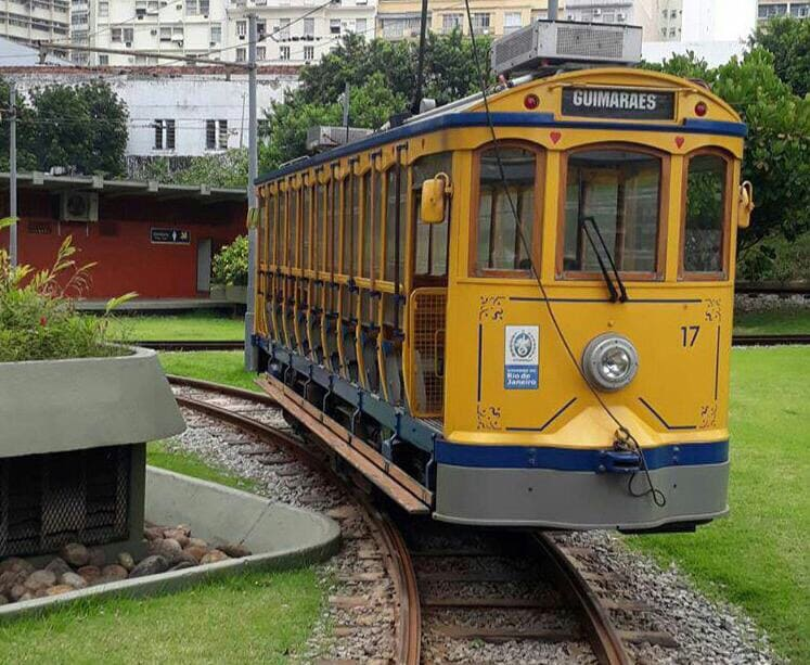 Santa Teresa neighborhood traditional tram.