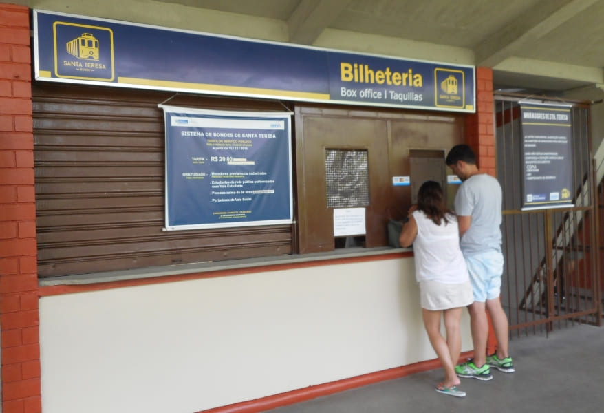 Santa Teresa neighborhood: tram ticket office.