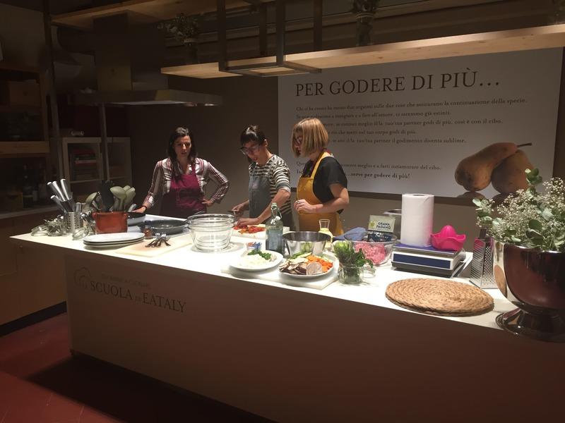 Eataly de Florença: aula de culináia temática.