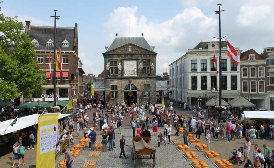 Mercado de Queijo em Gouda.