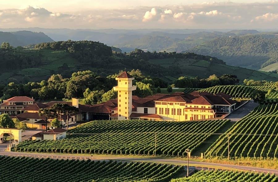 Vista do complexo da Vinícola Miolo do terraço do Spa do Vinho