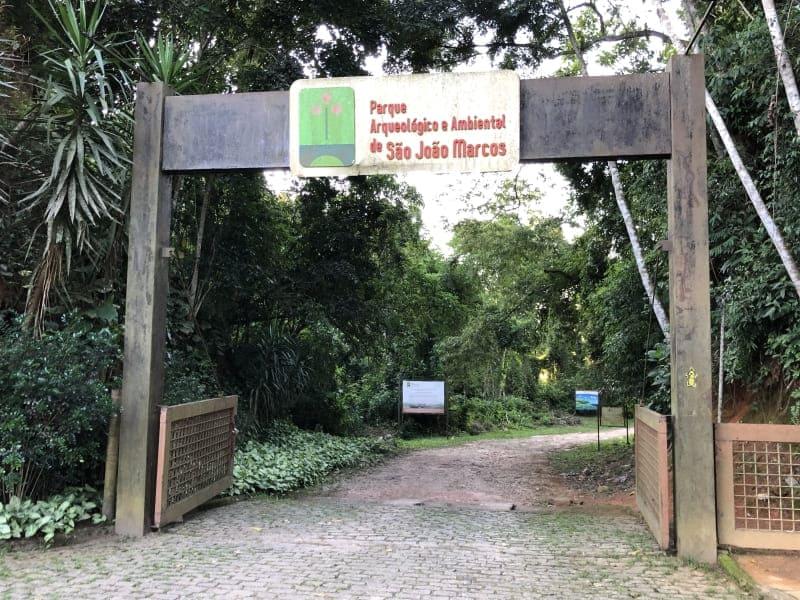 Parque São João Marcos: entrada do parque.
