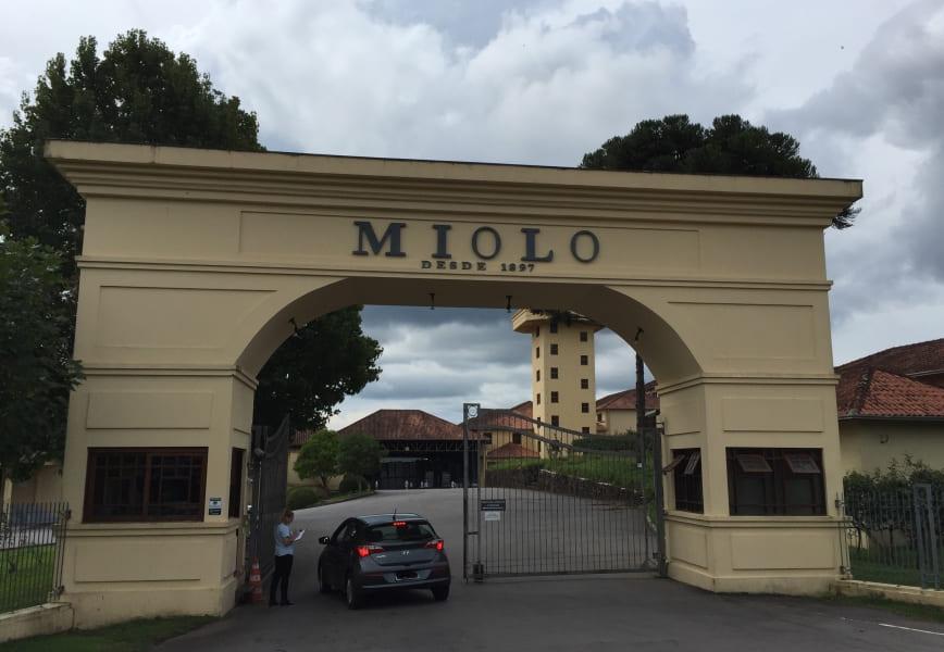 Vinícola Miolo: entrada do complexo