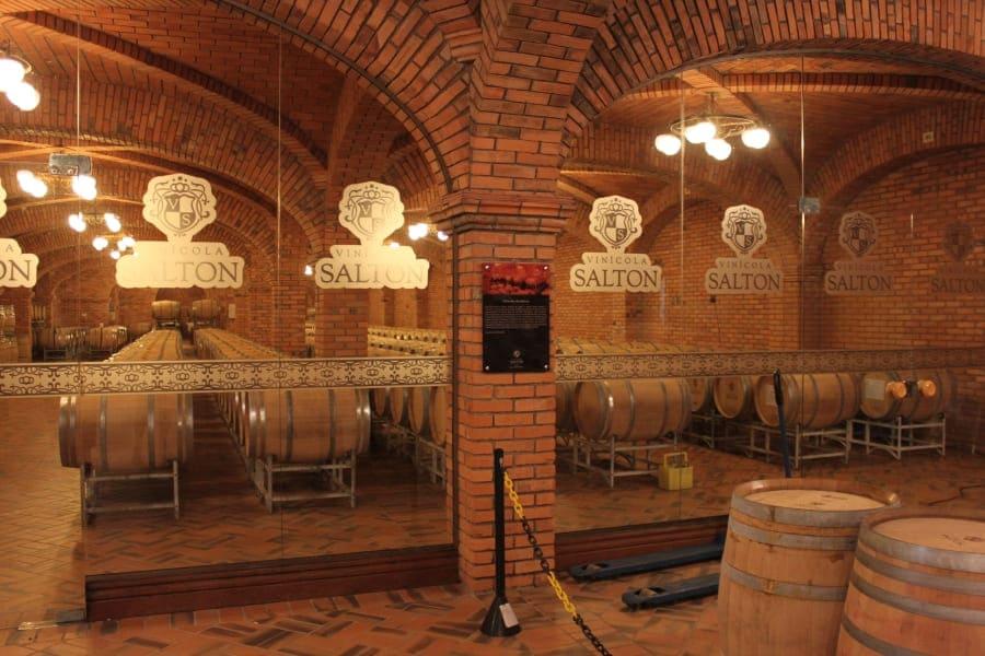 Visita com degustação à Vinícola Salton e as caves de armazenamento