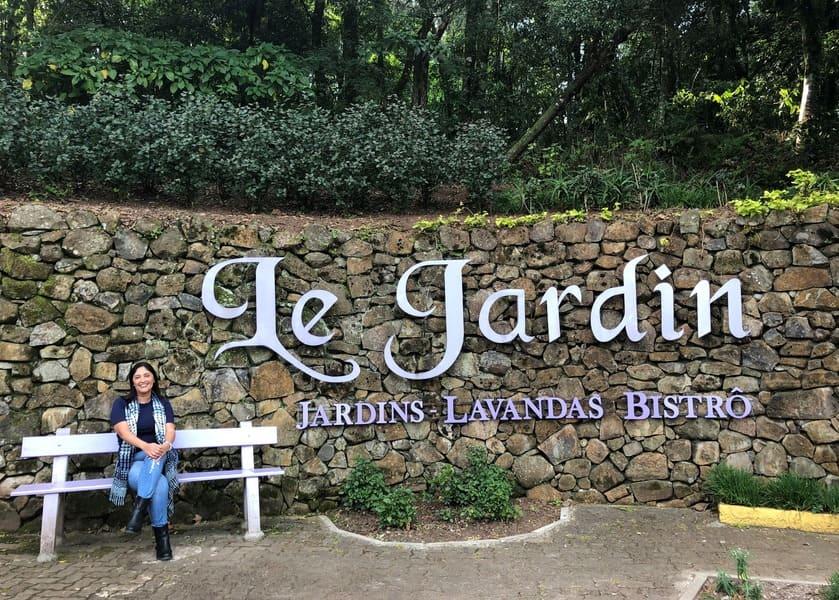 Entrada do Le Jardin Parque de Lavanda em Gramado.