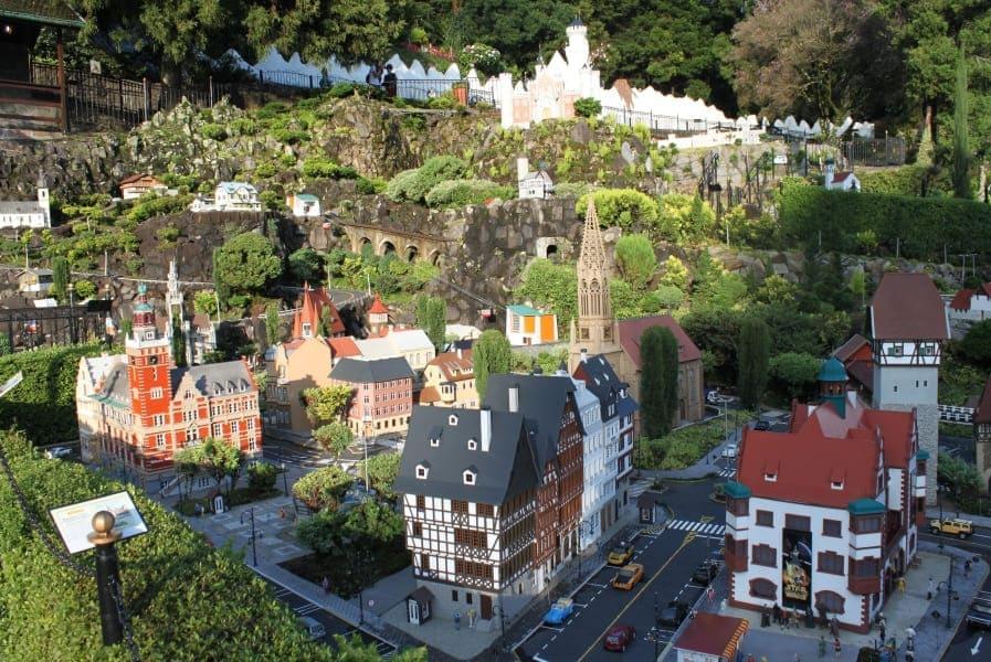 Miniaturas de consruções alemãs do Mini Mundo em Gramado.