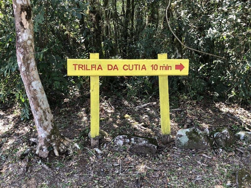 Trilha da Cutia no Parque da Ferradura.