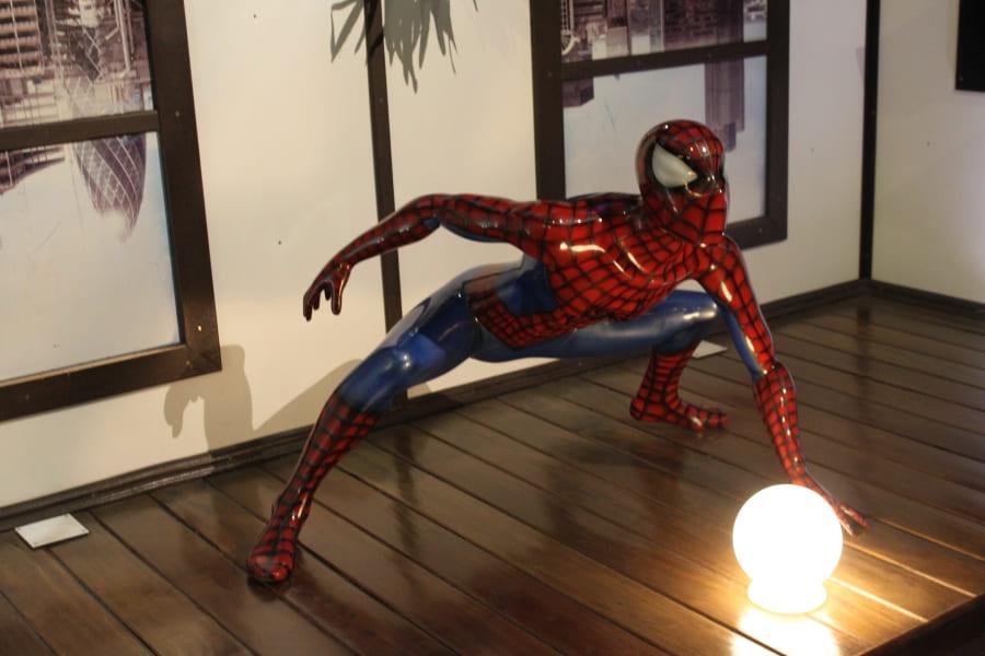 Homem-aranha no Dreamland Museu de Cera em Gramado.