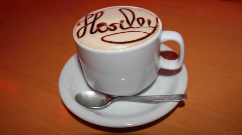 Cappuccino estilizado servido no Harley Motor Show em Gramado.