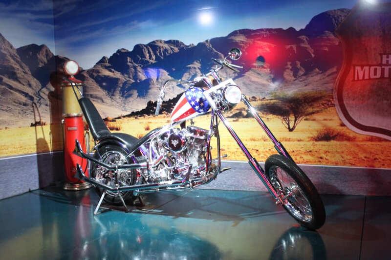 Harley Davidson Easy Rider exposta no Harley Motor Show em Gramado.