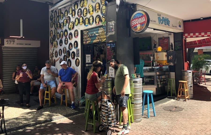 Bar Popeye em Ipanema.