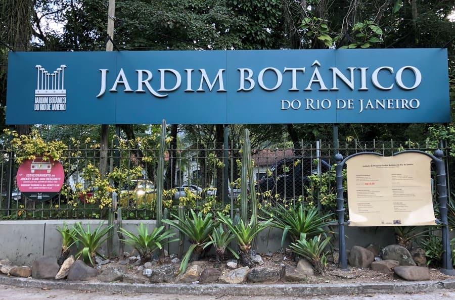 Entrada principal do Jardim Botânico do Rio de Janeiro