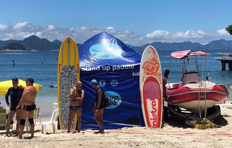 Standup paddle na Praia de Copacabana