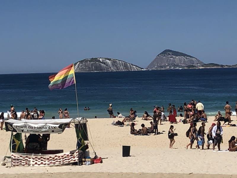 LGBTQI+ point at Ipanema Beach.