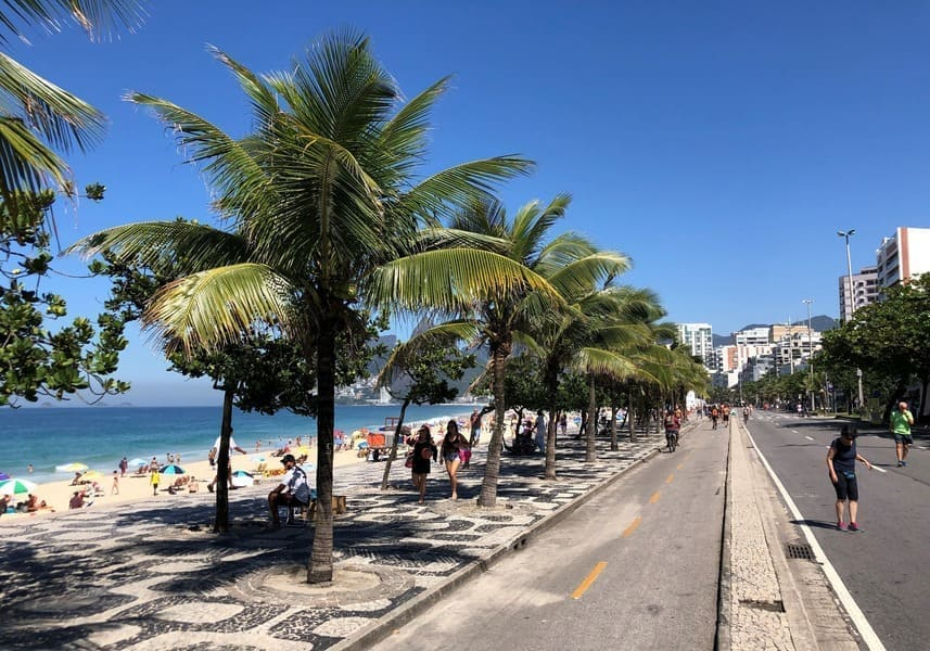 Ipanema beach sidewalk
