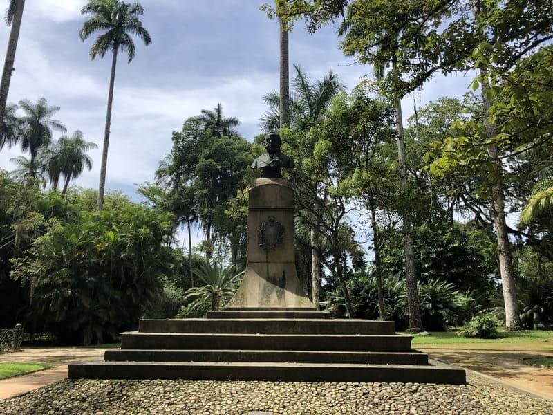 Bust of King John VI at the Botanical Garden of Rio de Janeiro