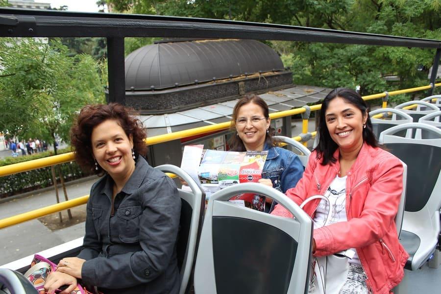 Rota do ônibus turístico em Madri