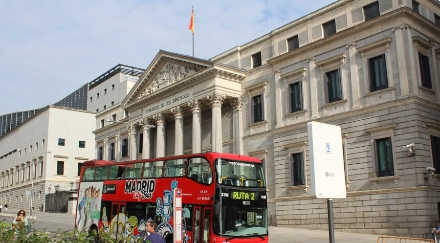 Ônibus hop-on hop-off em Madri
