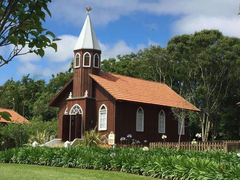 Réplica da igreja dos colonos do Parque Histórico de Carambeí