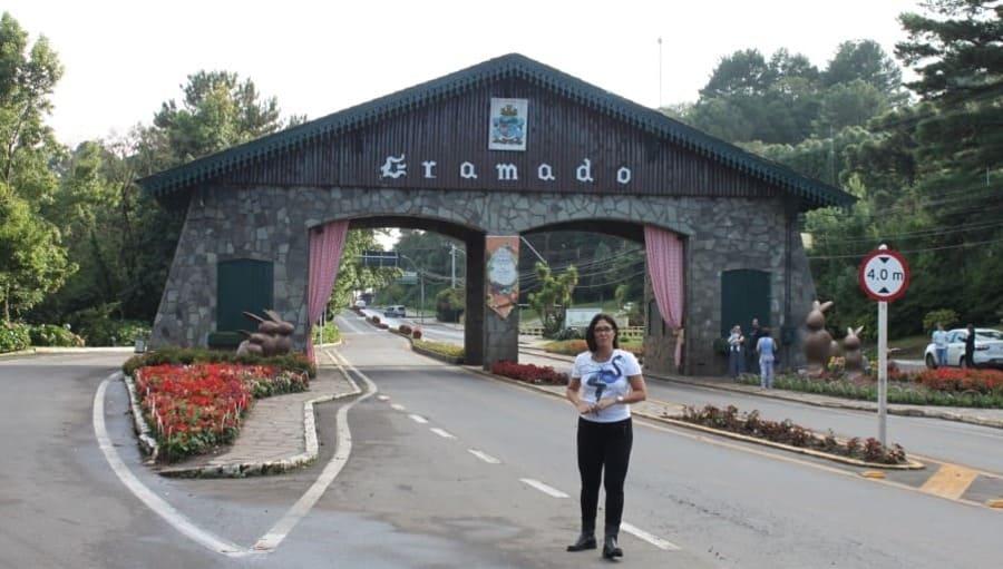Portal de entrada de Gramado via Nova Petrópolis