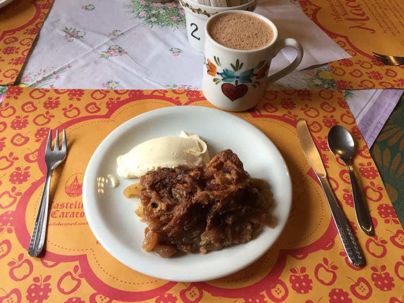 Castelinho Caracol ótimo lugar para comer apfelstrudel em Canela