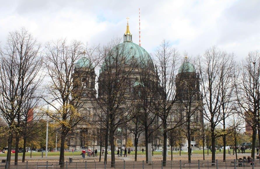 Outono na Europa e a paisagem em Berlim