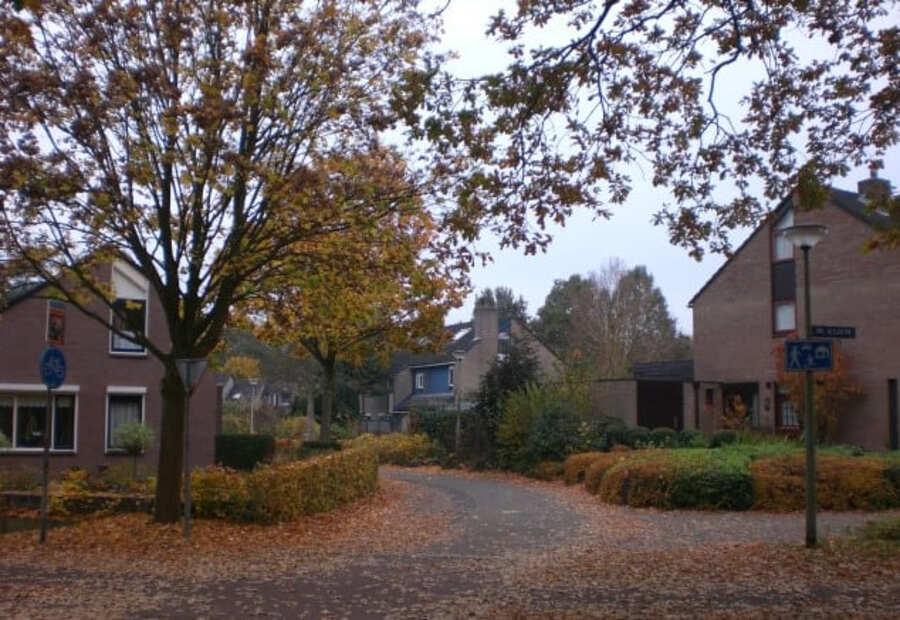 Outono em Assen na província de Drenthe,Norte da Holanda